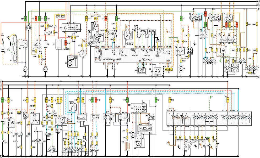 Схема электрооборудования деу