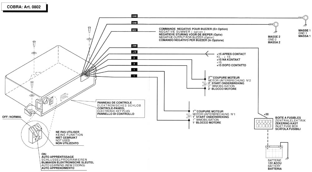 cobra alarm wiring diagram  | 1000 x 703